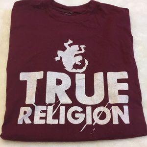 True Religion men's T-shirt maroon